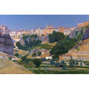 - Quadro -Las huertas (Cuenca)- - Beruete, Aureliano de