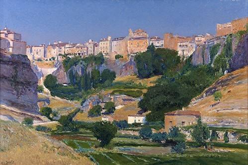 quadros-de-paisagens - Quadro -Las huertas (Cuenca)- - Beruete, Aureliano de
