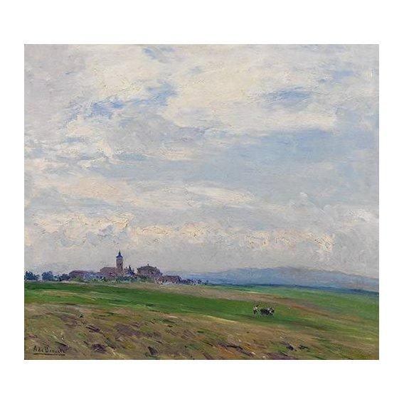 pinturas de paisagens - Quadro -Paisaje castellano-