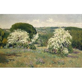 - Quadro -Espinos en flor- - Beruete, Aureliano de