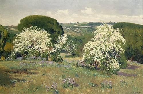 quadros-de-paisagens - Quadro -Espinos en flor- - Beruete, Aureliano de