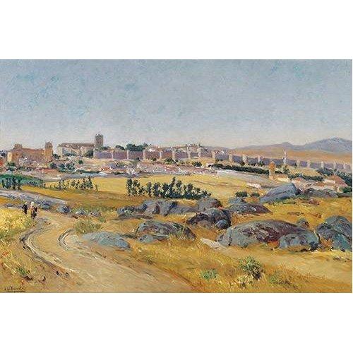 pinturas de paisagens - Quadro -Avila, 1909-