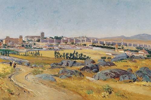 quadros-de-paisagens - Quadro -Avila, 1909- - Beruete, Aureliano de