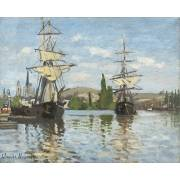 Quadro -Ships Riding on the Seine at Rouen, 1872-