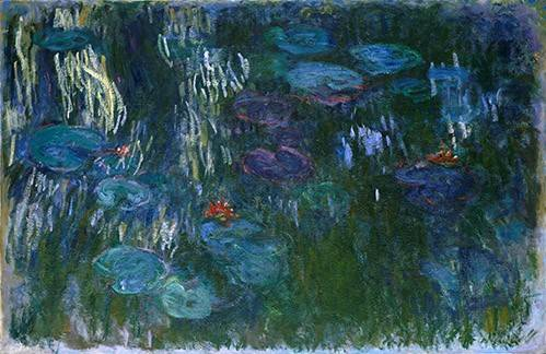 quadros-de-paisagens - Quadro -Water Lilies (2)- - Monet, Claude