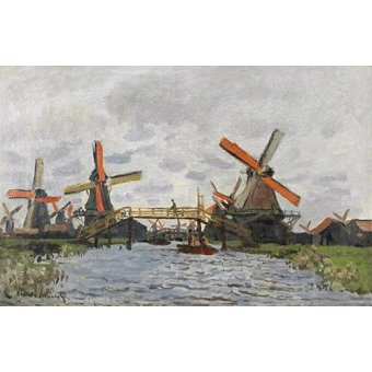 - Quadro -Windmills near Zaandam, 1871- - Monet, Claude