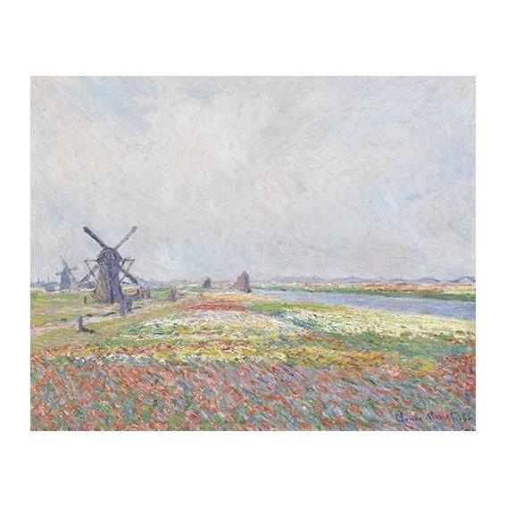 pinturas de paisagens - Quadro -Tulip Fields near The Hague, 1886-