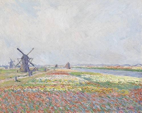 quadros-de-paisagens - Quadro -Tulip Fields near The Hague, 1886- - Monet, Claude
