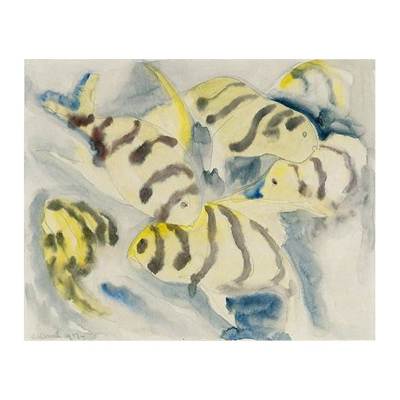pinturas modernas - Quadro -Fish Series, No-3-
