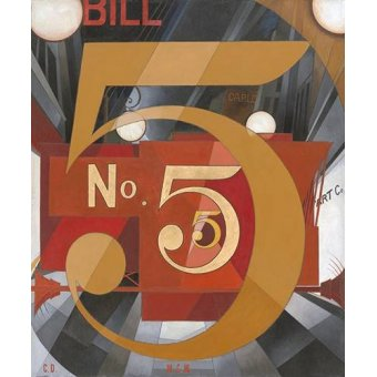 - Quadro -I Saw the Figure 5 in Gold- - Demuth, Charles