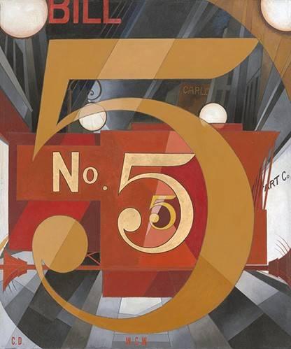 quadros-modernos - Quadro -I Saw the Figure 5 in Gold- - Demuth, Charles