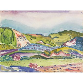 - Quadro -Mountain with Red House- - Demuth, Charles