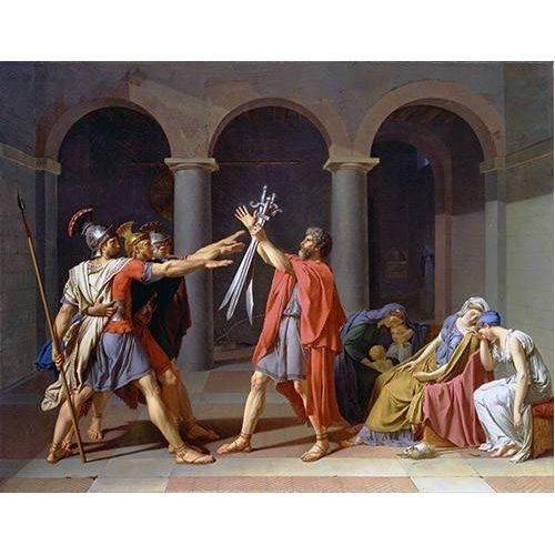 pinturas do retrato - Quadro -El Juramento De Los Horacios-