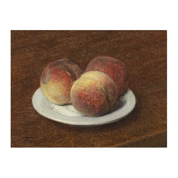 naturezas mortas - Quadro -Three Peaches on a Plate, 1868-