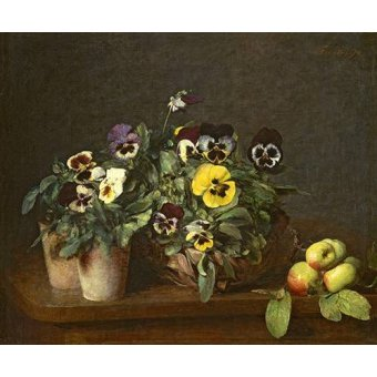 - Quadro -Still Life with Pansies- - Fantin Latour, Henri