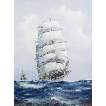 - Quadro -The square-rigged wool clipper under full sail- - Spurlng, J.