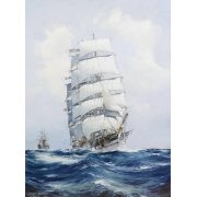 Quadro -The square-rigged wool clipper under full sail-