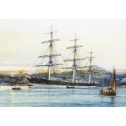 Quadro -The square-rigged Australian clipper -Old Kensington- lying on