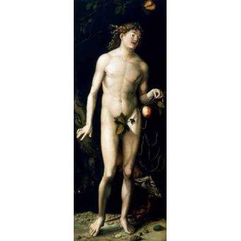 quadros nu artistico - Quadro -Adán- - Dürer, Albrecht (Albert Durer)