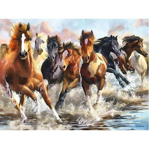 pinturas modernas - Quadro -Moderno CM10750- (caballos)