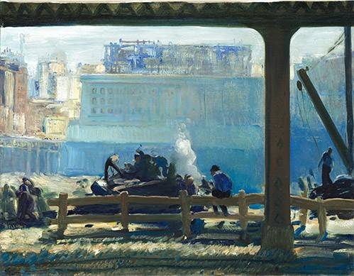 quadros-de-paisagens - Quadro -Blue Morning- - Bellows, George