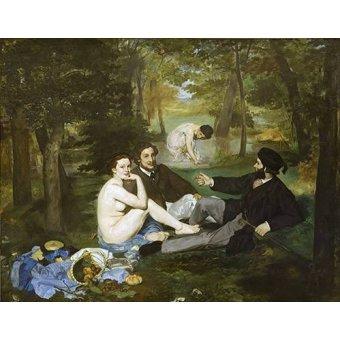 pinturas de retratos - Quadro -Desayuno en la hierba, 1863- - Manet, Eduard