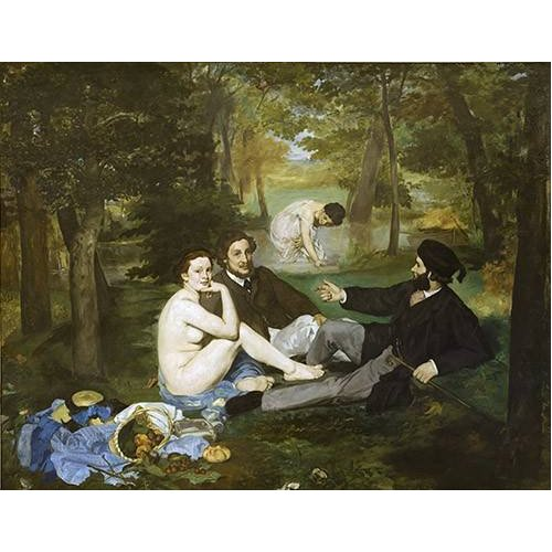 pinturas do retrato - Quadro -Desayuno en la hierba, 1863-