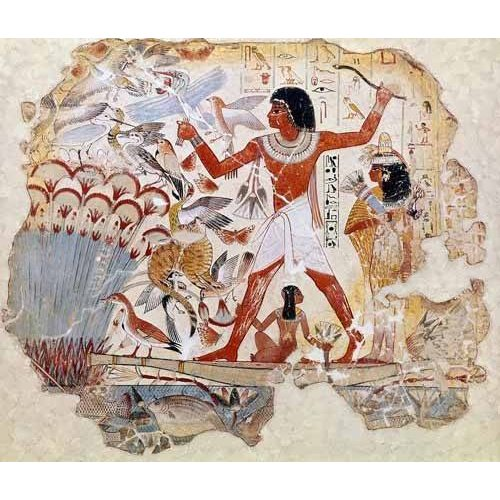 Quadro -Fresco en Thebes,- Casa de pajaros--