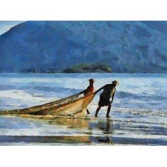 quadros de paisagens marinhas - Quadro -Moderno CM12735- - Medeiros, Celito