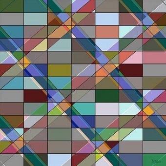 Quadros abstratos - Quadro -Moderno CM12614- - Medeiros, Celito