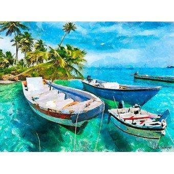 quadros de paisagens marinhas - Quadro -Moderno CM10427- - Medeiros, Celito