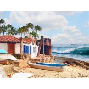 quadros de paisagens marinhas - Quadro -Moderno CM10738- - Medeiros, Celito