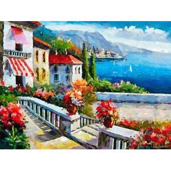 quadros de paisagens marinhas - Quadro -Moderno CM10606- - Medeiros, Celito