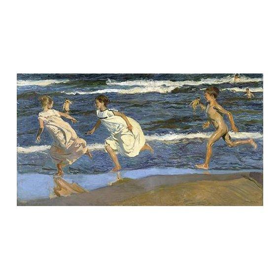 Quadro -Correndo na praia-