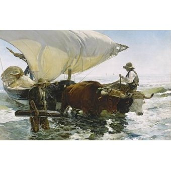 quadros de paisagens marinhas - Quadro -Retornar de Pesca- - Sorolla, Joaquin