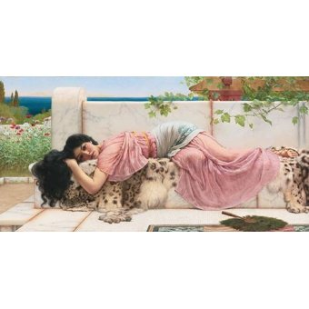 pinturas de retratos - Quadro -When the heart is young, 1902- - Godward, John William