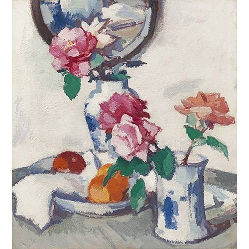 Quadro -Still life with roses and fruit-