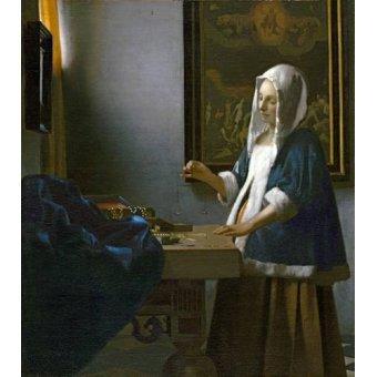 - Quadro -Woman Holding a Balance- - Vermeer, Johannes