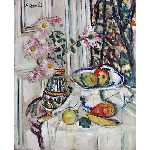Quadro -Still Life With Daisies and Fruit-