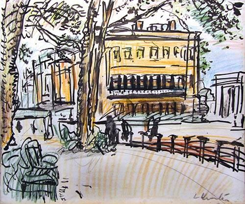 quadros-de-paisagens - Quadro -Rotten Row- - Hunter, G.L.
