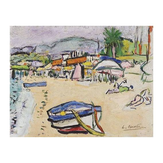 Quadro -On the beach, South of France-