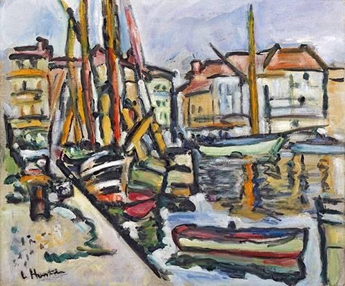 quadros-de-paisagens-marinhas - Quadro -A Mediterranean Port- - Hunter, G.L.