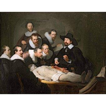- Quadro -Lição de Anatomia do Prof. Nicolaes Tulp- - Rembrandt, Hermensz Van Rijn