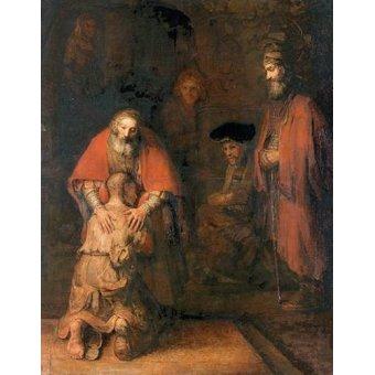quadros religiosos - Quadro -O retorno do filho pródigo- - Rembrandt, Hermensz Van Rijn
