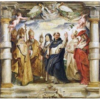 quadros religiosos - Quadro -Los defensores de la eucaristia- - Rubens, Peter Paulus
