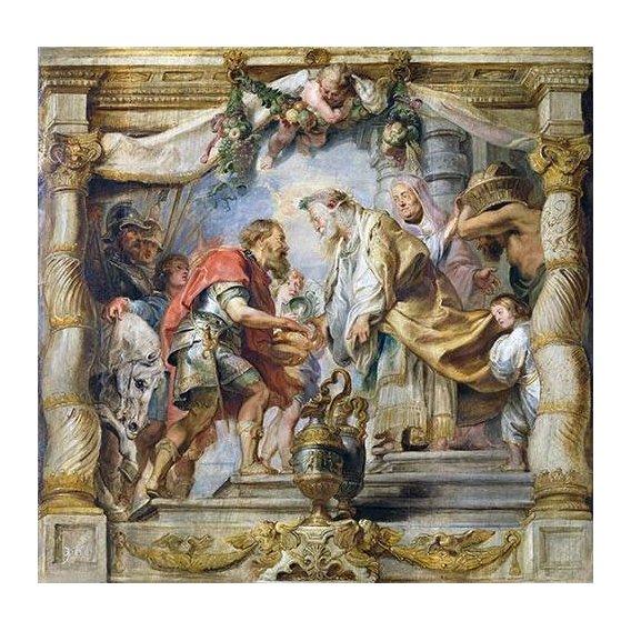 Quadro -El encuentro de Abraham y Melquisedec-