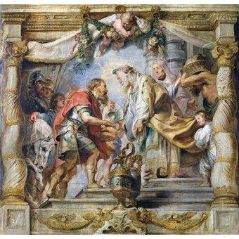 quadros religiosos - Quadro -El encuentro de Abraham y Melquisedec- - Rubens, Peter Paulus