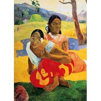 pinturas de retratos - Quadro -¿Cuándo te casas? (1892)- - Gauguin, Paul