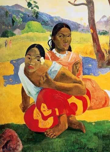 cuadros de retrato - Cuadro -¿Cuándo te casas? (1892)- - Gauguin, Paul