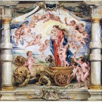quadros religiosos - Quadro -El triunfo del amor divino- - Rubens, Peter Paulus